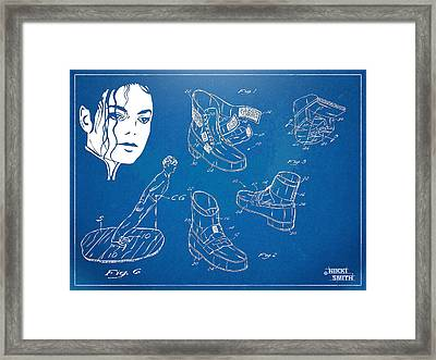 Michael Jackson Anti-gravity Shoe Patent Artwork Framed Print