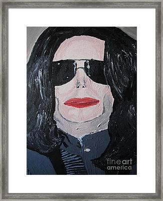 Michael Jackson King Of Pop Framed Print by Jeannie Atwater Jordan Allen
