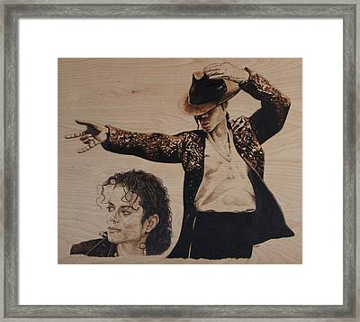 Michael Jackson Framed Print by Michael Garbe