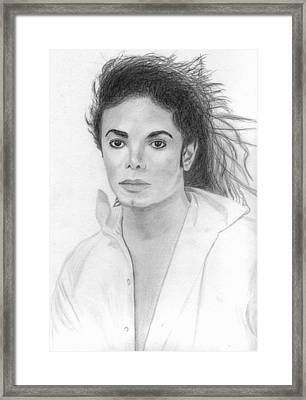 Michael Jackson Framed Print by Pat Moore