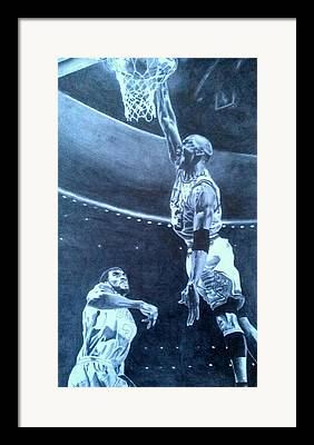 Michael Jordan Pics Drawings Framed Prints