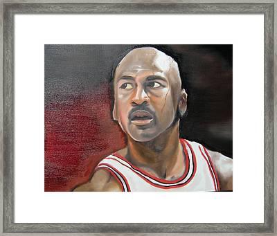 Michael Jordan Framed Print by Matt Burke