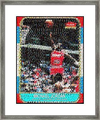 Michael Jordan Rookie Mosaic Framed Print by Paul Van Scott