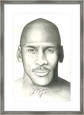 Michael Jordan Framed Print by Scott Williams
