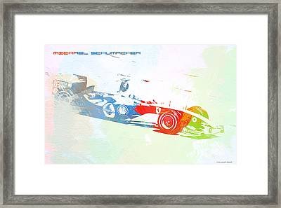 Michael Schumacher Framed Print by Naxart Studio
