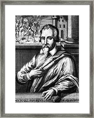 Michael Servetus, Spanish Polymath Framed Print by Science Source