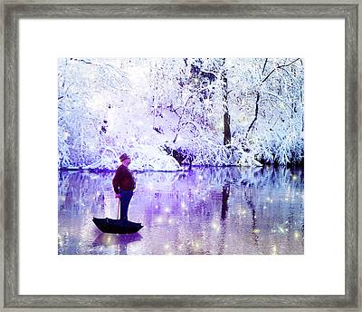 Michale Poppins Winter Adventure Framed Print by Michael Taggart