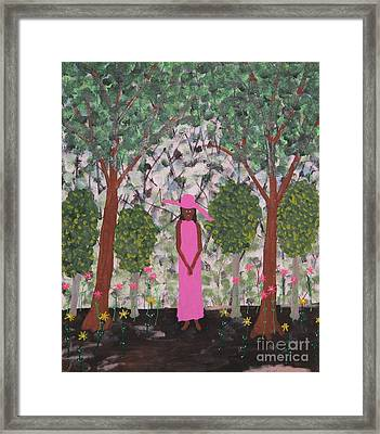 Michelle Obama First Lady Framed Print by Gregory Davis