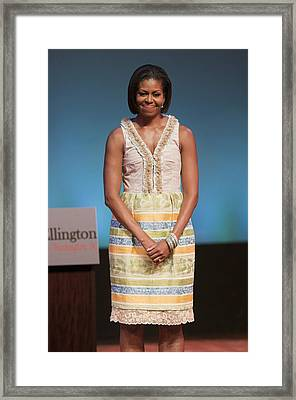 Michelle Obama In Attendance For Lady Framed Print by Everett