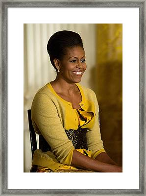 Michelle Obama Wearing A J. Crew Framed Print