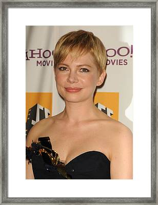 Michelle Williams At Arrivals For 15th Framed Print by Everett