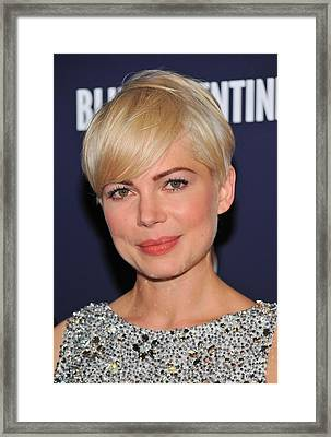 Michelle Williams At Arrivals For Blue Framed Print