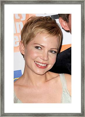 Michelle Williams At Arrivals For My Framed Print by Everett