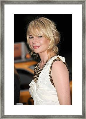 Michelle Williams Wearing A 3.1 Phillip Framed Print by Everett