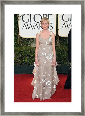 Michelle Williams Wearing A Valentino Framed Print by Everett