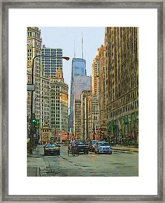 Michigan Avenue Framed Print by Vladimir Rayzman