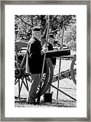Framed Print featuring the photograph Michigan Battery D by Randall  Cogle