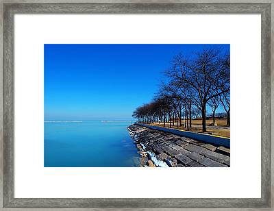 Michigan Lakeshore In Chicago Framed Print by Paul Ge