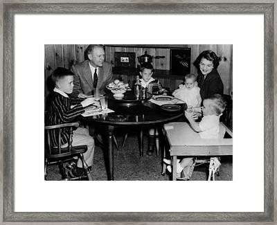 Michigan Representative Gerald  Ford Framed Print by Everett