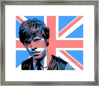 Mick Jagger Carnaby Street Framed Print by David Lloyd Glover