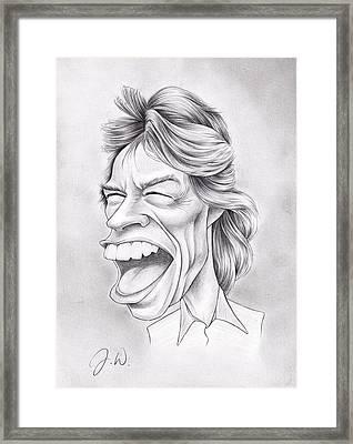 Mick Jagger Framed Print by Jamie Warkentin