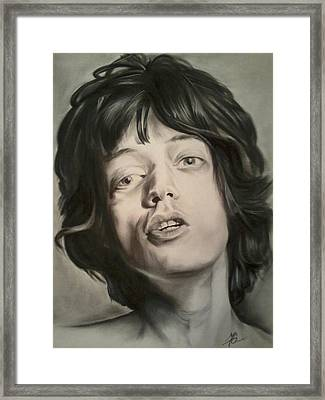 Mick Jagger Framed Print by Morgan Greganti