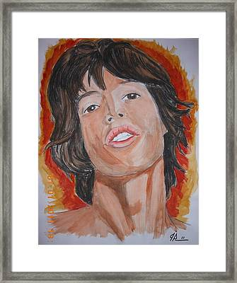 Mick Framed Print by Joseph Papale
