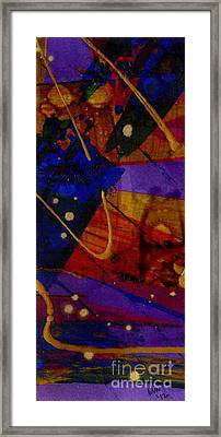 Mickey's Triptych - Cosmos IIi Framed Print by Angela L Walker