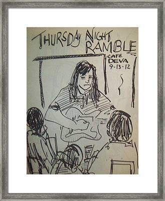 Micole At Thursday Night Ramble  Framed Print by James Christiansen