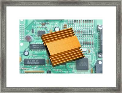 Microchip Processor Heat Sink Framed Print