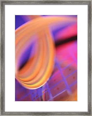 Microchip Wafer Framed Print by Chris Knapton