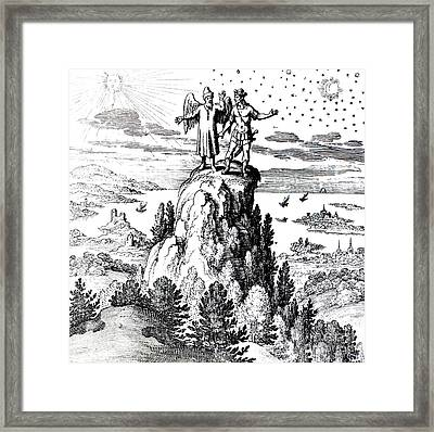 Microcosm, Macrocosm, 17th Century Framed Print by Science Source