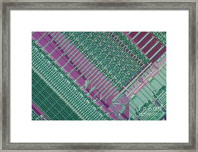 Micrograph Of Chip Framed Print by Michael W. Davidson