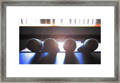 Microphone Flare Framed Print by Bill Tiepelman