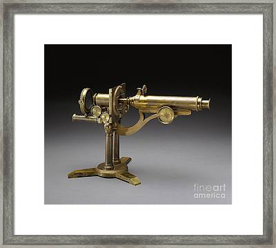 Microscope, 1864 Framed Print by Science Source