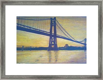 Mid-hudson Bridge Sunrise Framed Print by Samuel McMullen