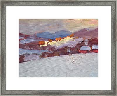 Framed Print featuring the painting Mid Winter In New York by Len Stomski