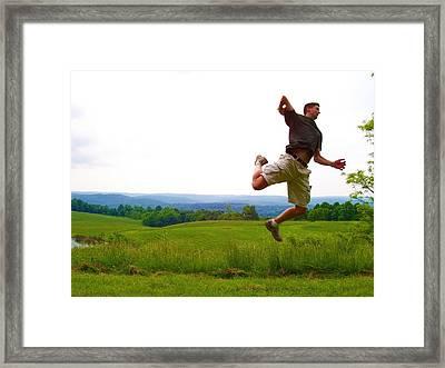 Midair Spike Framed Print by Cathy Dunlap
