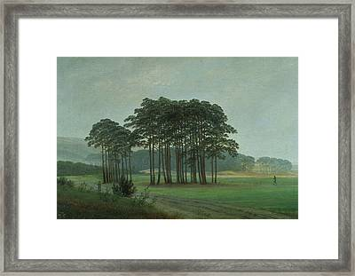 Midday Framed Print by Caspar David Friedrich