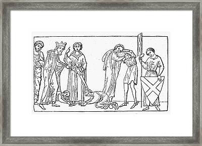 Middle Ages: Knighting Framed Print by Granger