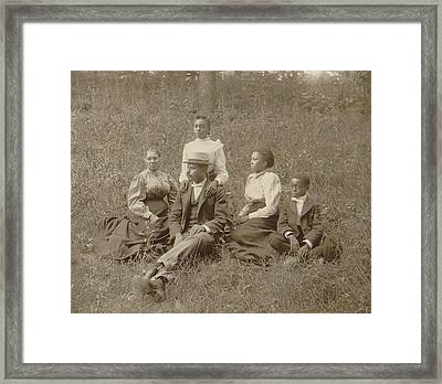 Middle Class African American Family Framed Print by Everett