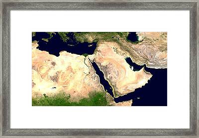 Middle East Framed Print by Nasa