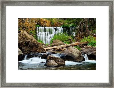 Middle Falls Of The Mccloud River Framed Print
