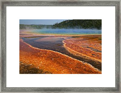 Middle Hot Springs Yellowstone Framed Print by Garry Gay