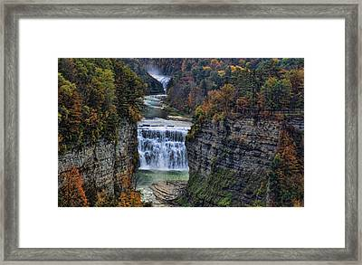 Framed Print featuring the photograph Middle Land by Tammy Espino