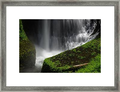 Middle North Falls Closeup Framed Print by Ken Dietz