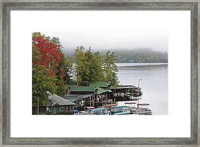 Middle Saranac Lake During Autumn - New York Framed Print by Brendan Reals