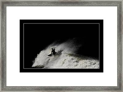 Framed Print featuring the digital art Midnight 02 by Kevin Chippindall
