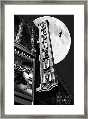 Midnight At The Orpheum - San Francisco California - 5d17991 - Black And White Framed Print