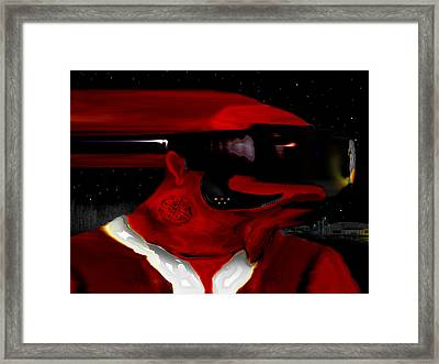 Midnight At The Spaceport Framed Print by AW Sprague II